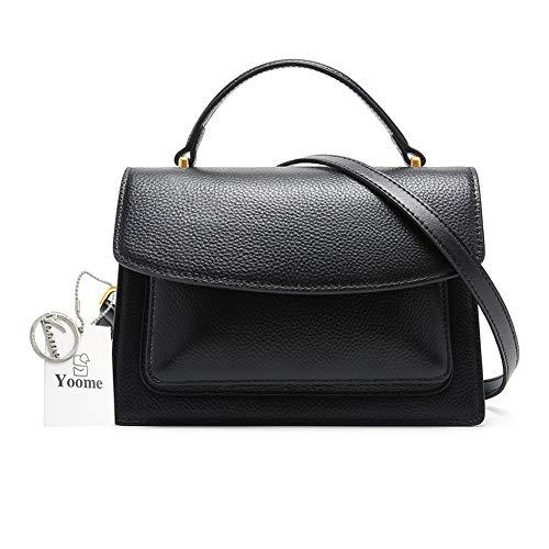 Yoome Damen Handtasche/Umhängetasche, Leder, einfarbig, Umhängetasche (Designer-handtaschen Clearance)