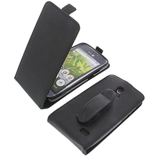 Tasche mit Gürtelclip für Doro 8031 Smartphone Flipstyle Schutz Hülle schwarz