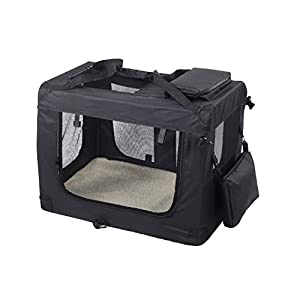 Wellhome-Portable-Pet-Carrier-Foldable-Oxford-Pet-Bag-Waterproof-for-Pets-M-L-XL-Black