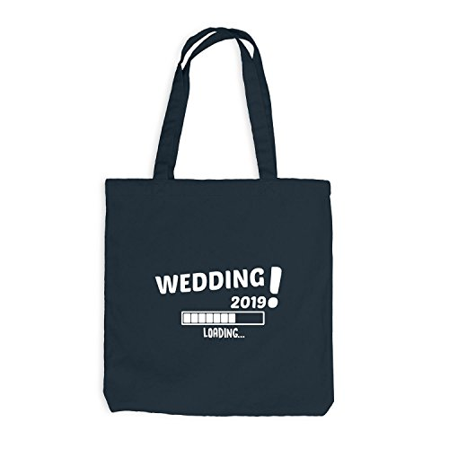Jutebeutel - Loading Wedding 2019 - Heirat, Hochzeit, Braut, Bräutigam Dunkelgrau