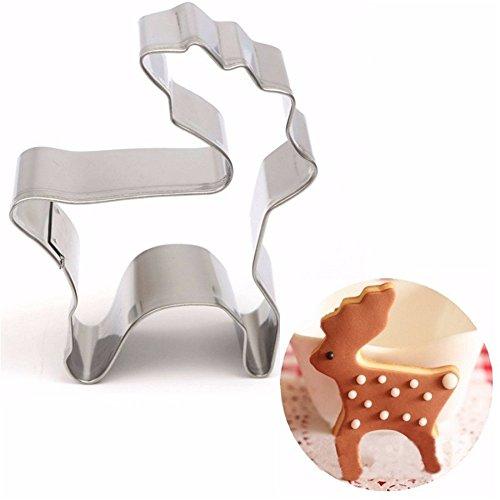 er Weihnachten Ausstechform DIY Backen Plätzchen Schimmel Schokolade handgemachte formen Ausstechformen Keksform Cutter Seife Eis Zucker Handwerk - Silber (Brownie-cutter)
