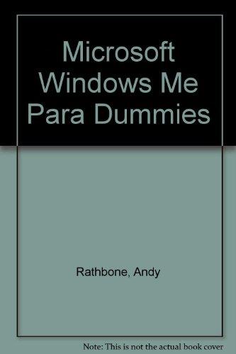Windows Me Para Dummies/window Millenium For Dummies por IDO