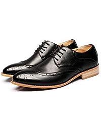 60e64daf 2018 Zapatos para Hombre de Negocios Brogue, Punta Transpirable, Mate,  Talla Hueca, Cuero Genuino, Cordones Oxford Forrados…
