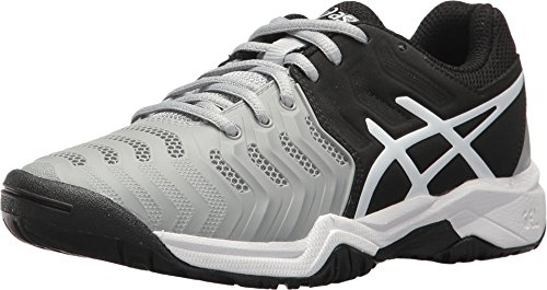 Asics Unisex-Kind Gel-Resolution® 7 GS Schuhe, 33 EU, Mid Grey/Black/White