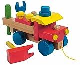 Hape International Auto Werkzeug BAUSATZ z. Schrauben MOTORIK Holz LKW Holzspielzeug Kinderland