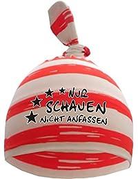 gestreifte Baby,- und Kinder 1-Zipfel Mütze Sommer Farben / Nur schauen nicht anfassen / in 10 Designs / KU 35 - 57