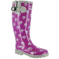 Cotswold Dog Paw Wellington / Womens Boots (4 UK) (Purple)