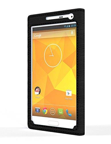 G-Wallie classica per Samsung Galaxy S5 - a portafoglio in pelle PU-custodia unificare digitale-analogico life. Senza cuciture facile accesso e la cover per Samsung Galaxy - nero/nero