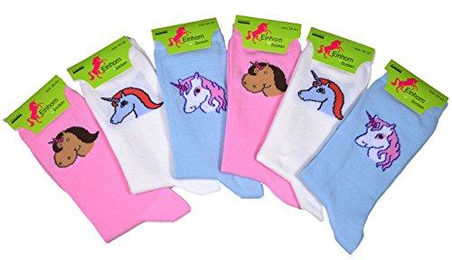 6er Pack Gr. 39/42 Damen Einhornsocken Socken Socke Einhorn Einhörner Unicorn Unicorns Weihnachten Weihnachtsgeschenk lustige socken damen socken damen einhörner bunte socken damen