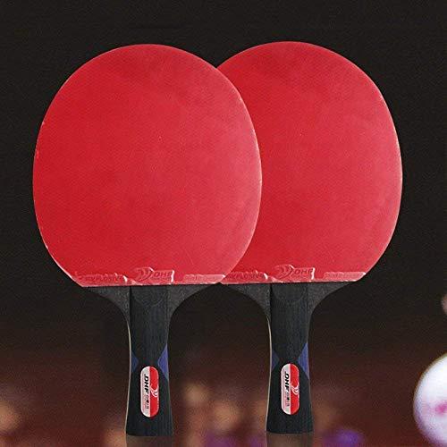 FXDCQC Ping Pong Paddel Set - Bester Tischtennisschläger Mit Hochleistungsgummi - Holzklinge Mit Langem Griff,2Pcs