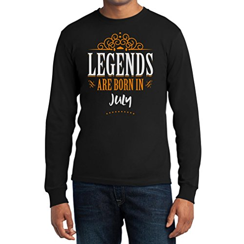 Legends are born in Juli - Geschenke Langarm T-Shirt Schwarz