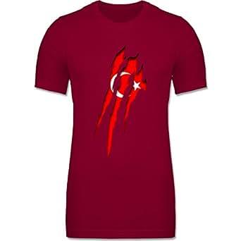 CV3001 – Figurbetontes Männer Shirt – Länder – Türkei Krallenspuren