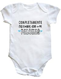 HippoWarehouse Completamente Enamorado de mis Palomas body bodys pijama niños niñas unisex