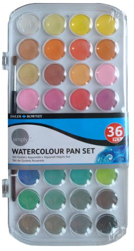 Daler Rowney 134500036 - Simply Watercolor 36 Pans