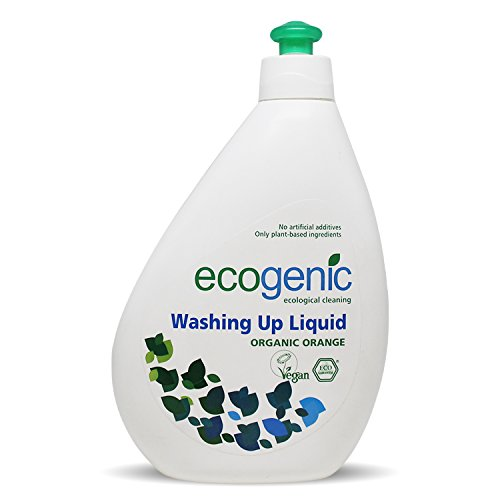 Ecogenic Spülmittel, Bio Orange, Ökologisch, 500 ml, Vollständig biologisch abbaubar (1 x 500ml)