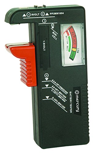 Skytronic Mercury Battery Tester For AA, AAA, PP3 and Button Cells Test