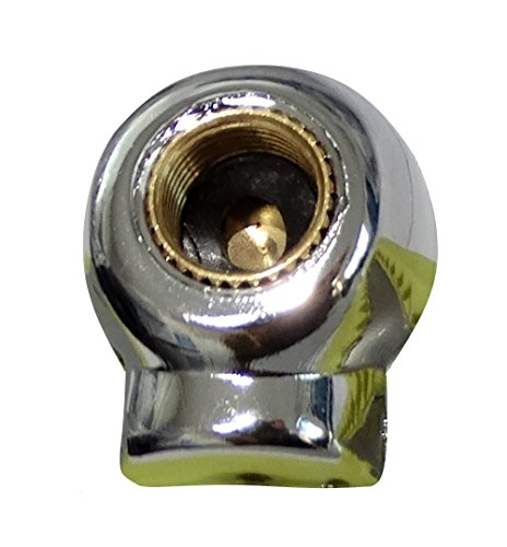 Aerzetix: 4 Ventilkappen Autoventil Fahrrad Motorrad in Totenkopf-Form Farbe Nickel C19898 - 2
