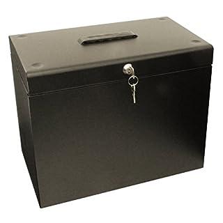 Ablagebox / Hängemappenbox (aus Metall, A4) schwarz