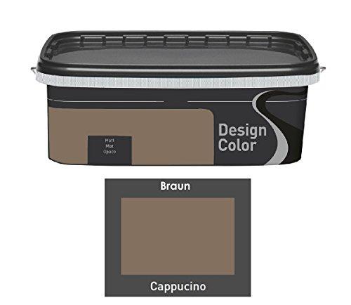 Design Color 2,5 L. farbige Innenfarbe, Wandfarbe Cappuchino, Cappucino, Braun, Matt