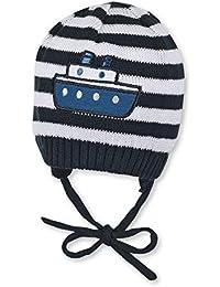 8d4ae7e3bf8c Sterntaler Bonnet tricoté avec des cordons à nouer pour les garçons, Âge  4-