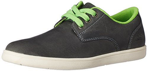 Clarks Boy's Black Leather First Walking Shoes - 13 kids UK/India (32 EU)