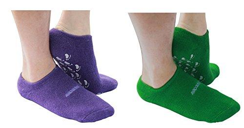 Ayaoqiang Moisturizing gel spa Socks per Moisturize Soften Repair Cracked skin-2coppia