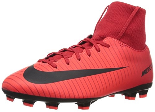 Nike Unisex-Kinder JR Mercurial Victory VI DF FG Fußballschuhe, Rot (Universität), 36.5 EU (Fußball Schuhe Nike Mercurial Kinder)