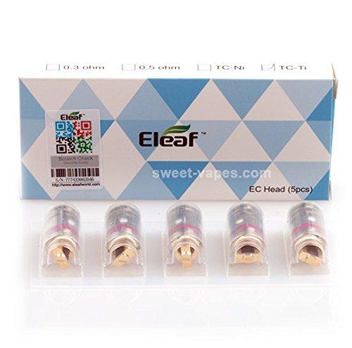 Eleaf/iSmoka 5er Pack iJust 2 EC Verdampferköpfe, Zubehör/Widerstand:0.3 Ohm, 90 g
