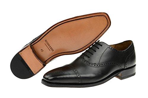 Gordon & bros lucquin 2830, pour homme, semelle businessschuhe schnürhalbschuhe avec semelles en cuir Noir