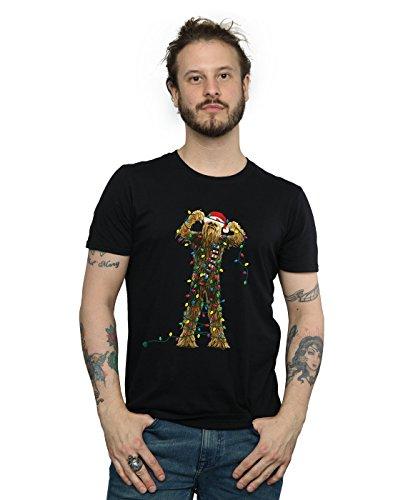 STAR WARS Herren Chewbacca Christmas Lights T-Shirt XX-Large Schwarz