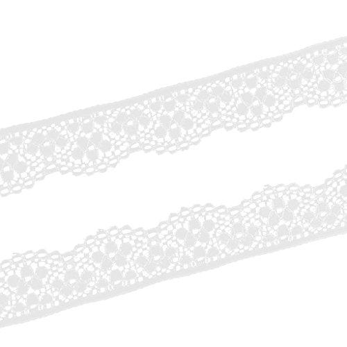 Sharplace 5 Yardas de Cinta Elastico para Coser Cortina DIY Bricolaje - Blanco