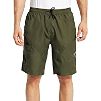 Baleaf Men's 3D Padded Mountain Bike Cycling Baggy Shorts - Removable Mesh Linner Underwear