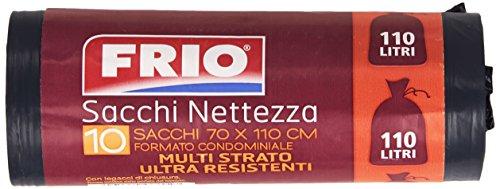 Frio - Sacchi Nettezza, Multi Strato, Ultra Resistenti, 70 x 110 cm - 10 pezzi