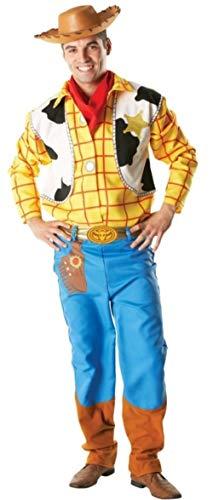 Herren 4 Stück DELUXE Disney Woody Toy Story Cowboy Halloween Kostüm Kleid Outfit STD XL - Multi, Multi, STD
