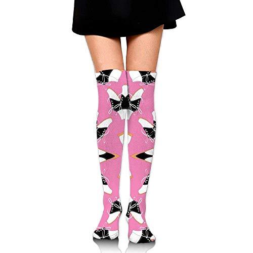 quanzhouxuhuixiefu at The Hop Training Socks Crew Athletic Socks Long Sport Soccer Socks Soft Knee High Sock Compression Socks for Men Women 50CM