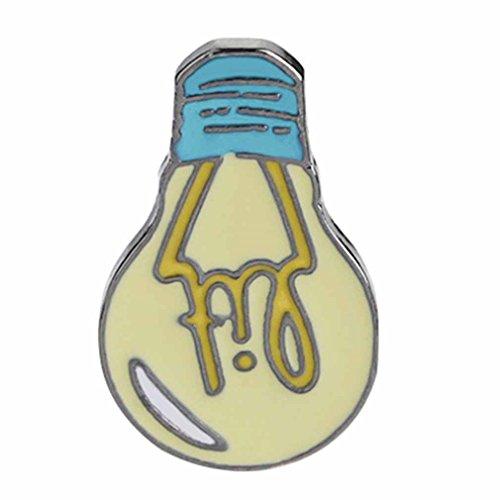 Yinew Cartoon Glühbirne Brosche Pin-Taste Legierung Emaille Gelb Täglich liefert Brosche Jeansjacke Rucksack Shirt Pin Badge Schmuck (Pins Glühbirne)