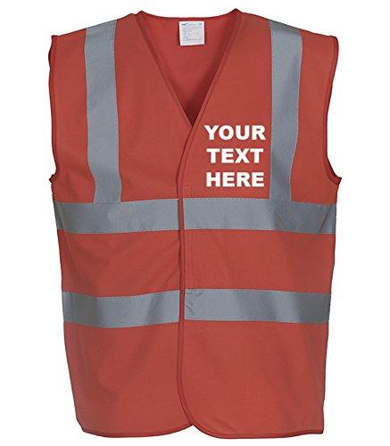 MYOG Personalised Premium High Visibility Vest Hi Viz Safety Waistcoat, 10 Colours, Sizes S-3XL (PRINT FRONT & BACK)