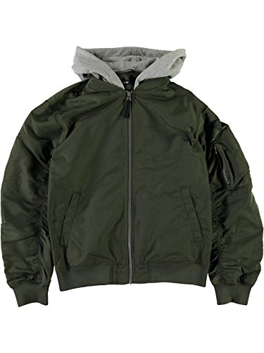 NAME IT Lmtd Bomerjacke mit Kapuze NLMMATT 13150632 Forest Night Gr.140