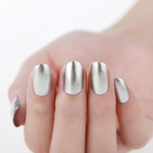 Esmalte de uñas, FEITONG Espejo esmalte de uñas Chapado pasta de plata...