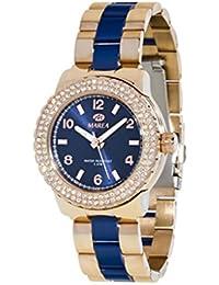 Ref. B54010/6 Reloj Marea Señora, caja de acero rosé, brazalete bicolor, sumergible 30 metros, garantía 2 años.