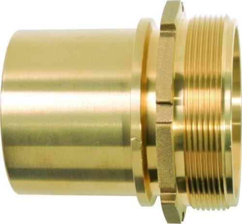 GEKA TW1038 Schlauchstutzen TW G 1 1/2 Zoll MS glatt mit Sicherungsbund, Gold, 18 x 8 x 13 cm
