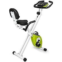 INTEY Bicicleta Estática Plegable F-Bike con 16 Niveles Resistencia Magnética Ajustable y Fitness Sillín