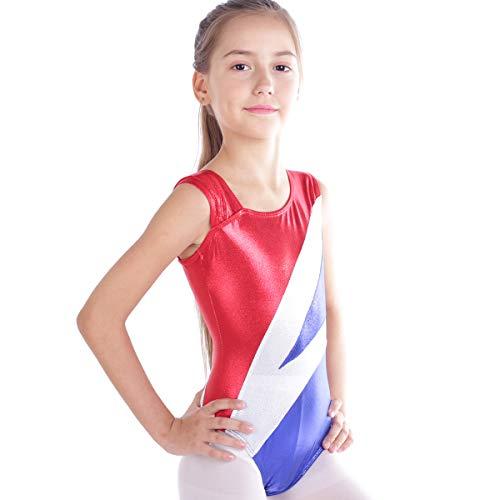 Trikot 80er Jahre Kostüm - IMEKIS Kinder Mädchen Turnanzug Gymnastik Trikot