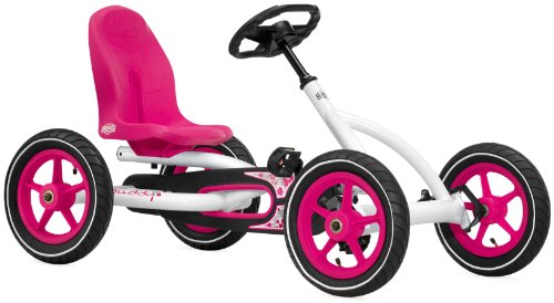 Berg Toys BERG Buddy White 24.20.61.01, Quad infantil, 3 a 8 años, color rosa, blanco y negro