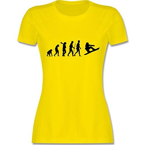 Evolution - Snowboard Evolution - tailliertes Premium T-Shirt mit Rundhalsausschnitt für Damen Lemon Gelb