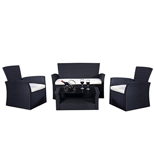 Gartenmöbel Rattan Lounge Set Polyrattan Sitzgruppe Rattanmöbel Garnitur Garten