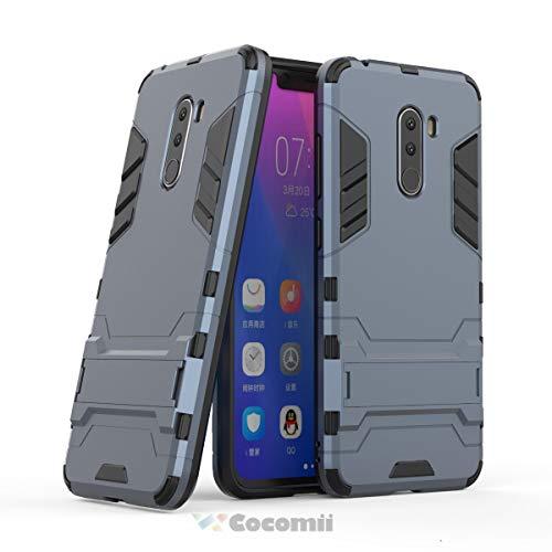 Cocomii Iron Man Armor Xiaomi Mi F1/Pocophone F1/Poco F1 Hülle NEU [Strapazierfähig] Taktisch Griff Ständer Stoßfest Gehäuse [Militärisch Verteidiger] Case Schutzhülle for Xiaomi Mi F1 (I.Black)