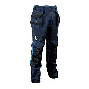COFRA V481-0-02.F56 Leiria – Pantalón de trabajo, azul marino/azul, 56