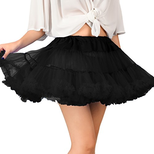 Madonna 80s Bridal Style Women's 80s Party Black Petticoat Skirt - Two Sizes