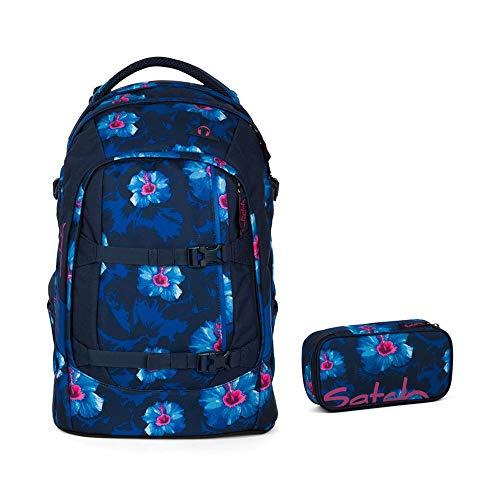 Satch Pack - 2tlg. Set Schulrucksack - Motive - Schulrucksack Schlamperbox (Waikiki Blue)
